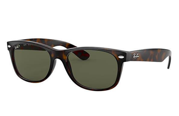 b9607725753 Ray-Ban New Wayfarer Classic RB2132 Tortoise - Nylon - Green ...