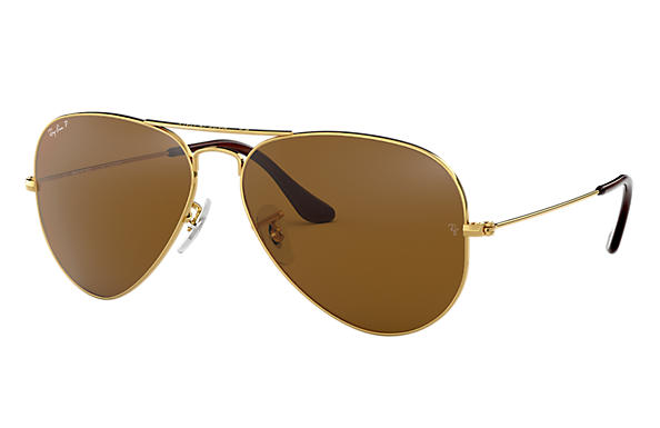 bd7b07851 Ray-Ban Aviator Classic RB3025 Gold - Metal - Brown Polarized Lenses ...