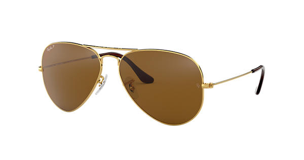 851bd6a8d6a Ray-Ban Aviator Classic RB3025 Gold - Metal - Brown Polarized Lenses -  0RB3025001 5758