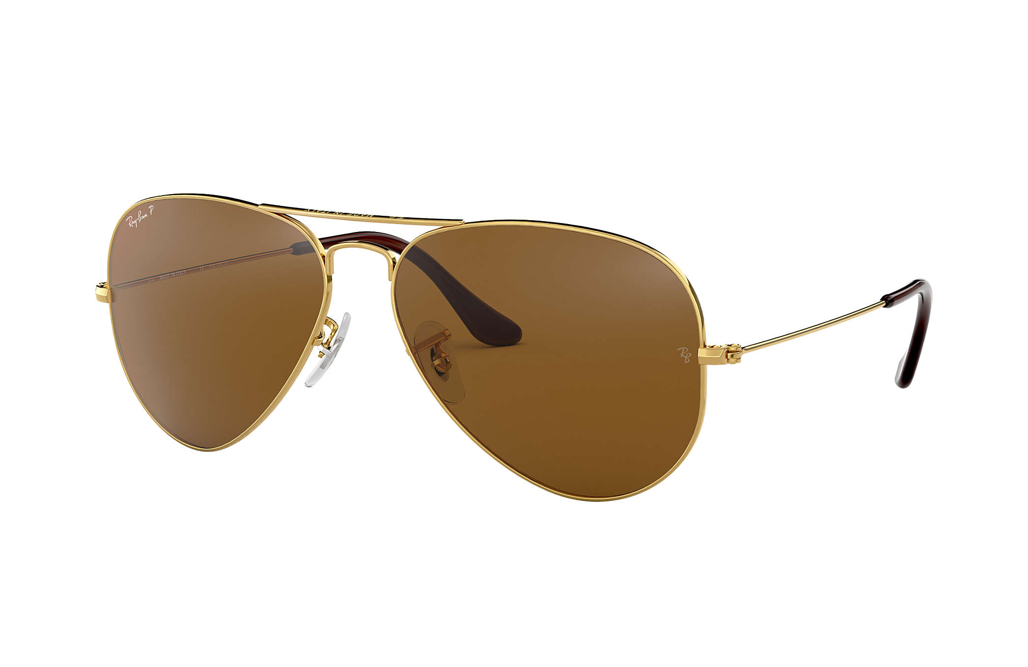 Ray-Ban Aviator Classic RB3025 Gold - Metal - Brown Polarized Lenses ... 0b27442aba