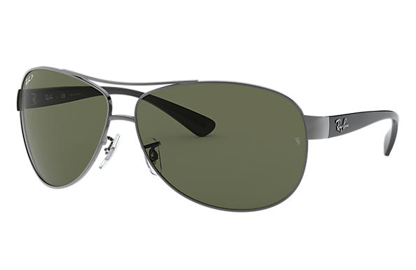 a3d2325315 Ray-Ban RB3386 Gunmetal - Metal - Green Polarized Lenses ...
