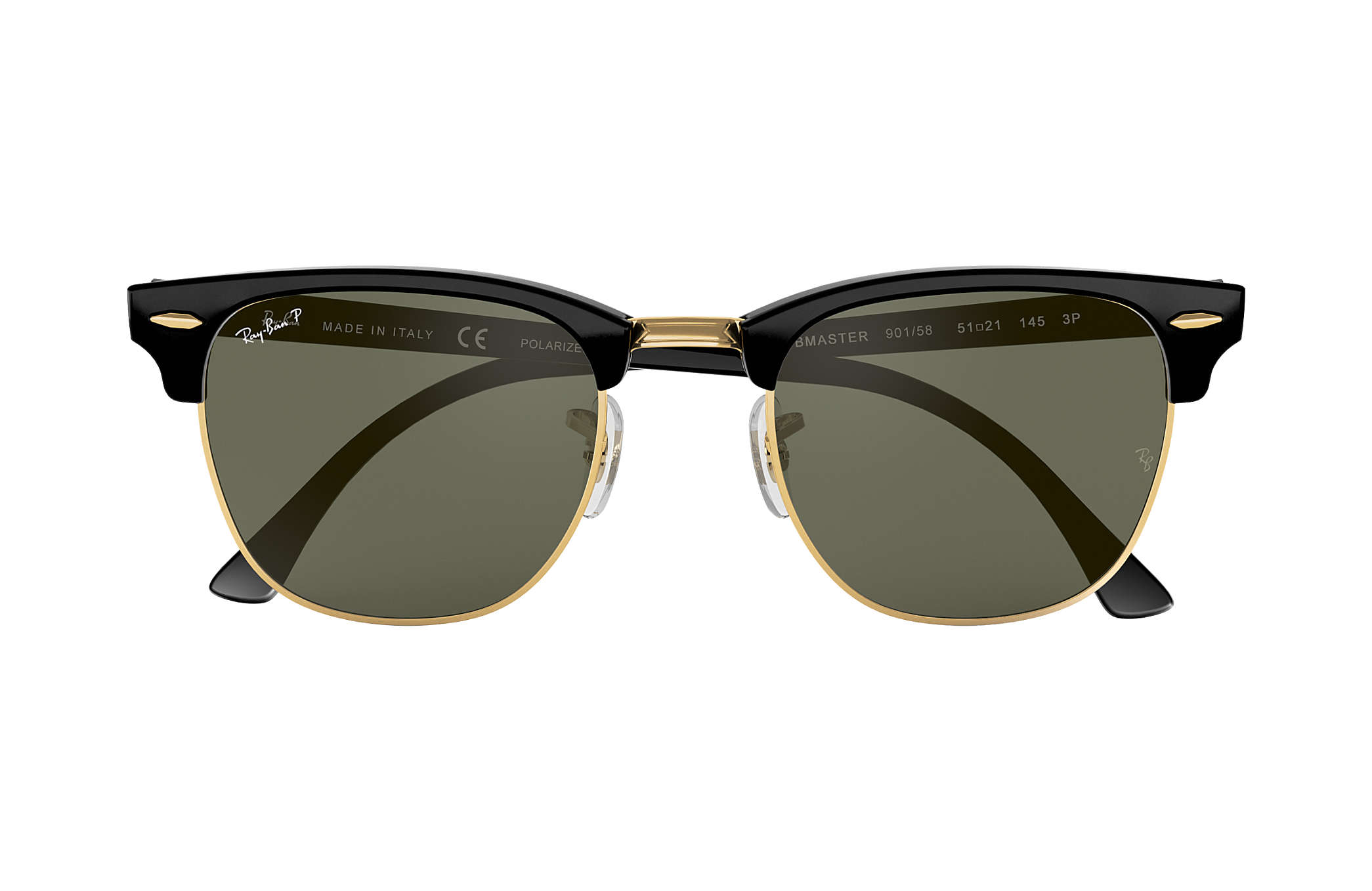 ray ban clubmaster matte black silver