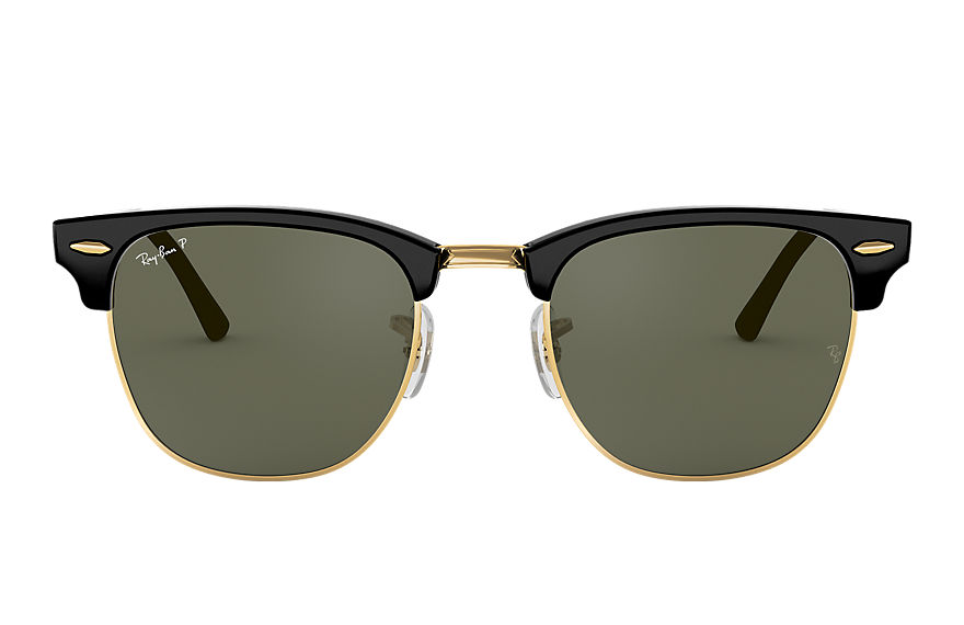 Ray-Ban Sunglasses CLUBMASTER CLASSIC Black with Green Classic G-15 lens