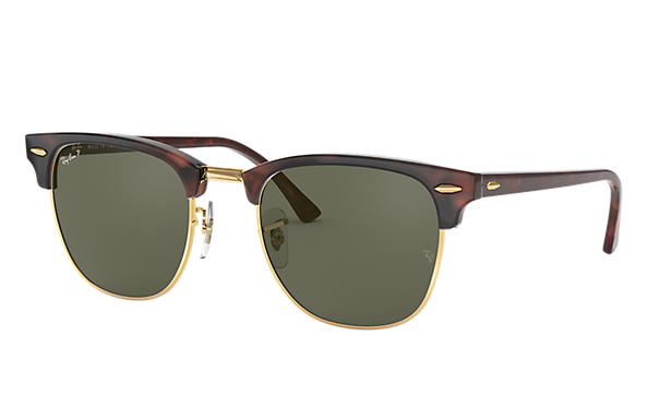 8f0129bcb8a Ray-Ban Clubmaster Classic RB3016 Black - Acetate - Green Lenses ...