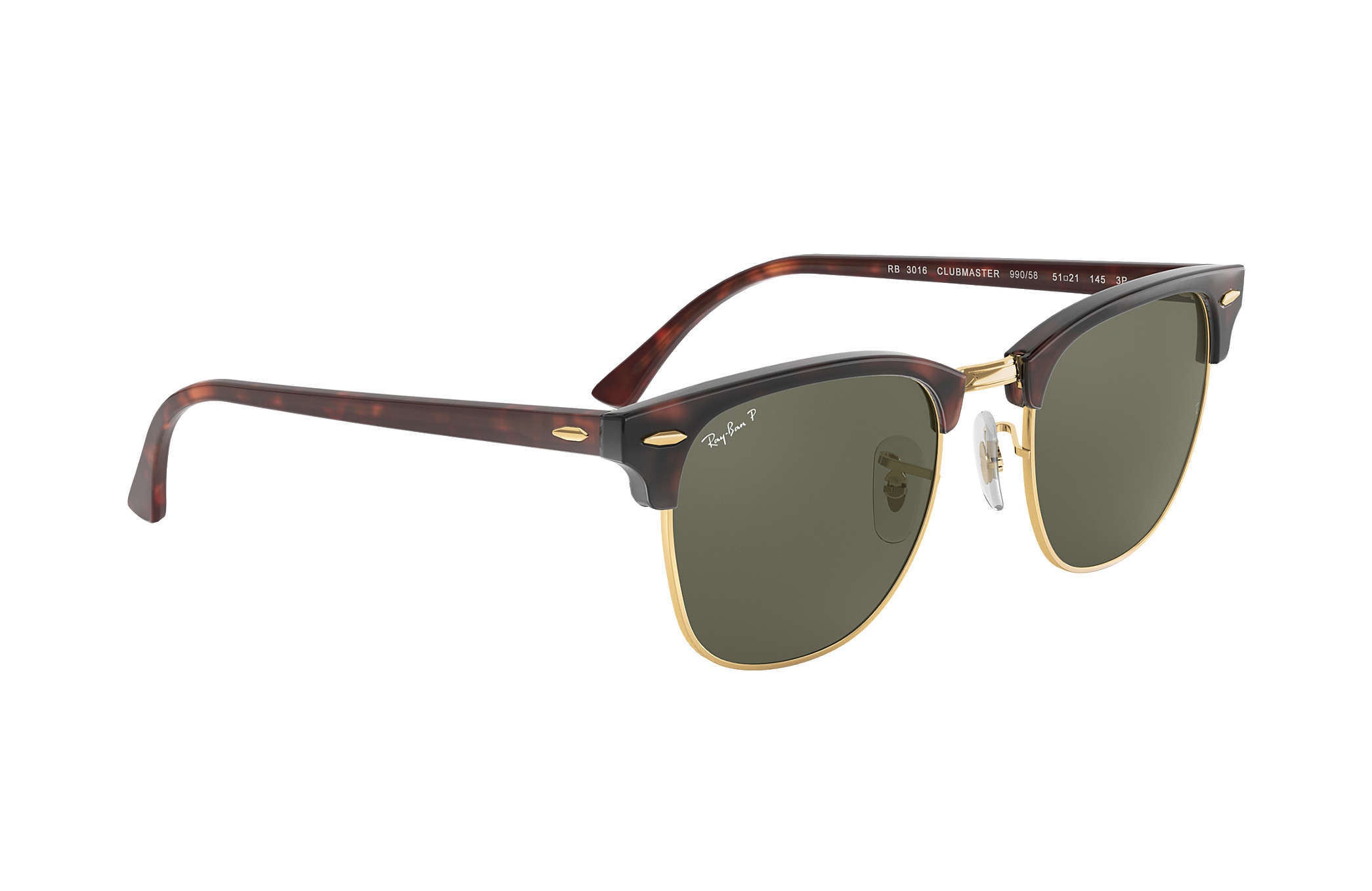 1d6a65821 Ray-Ban Clubmaster Classic RB3016 Tortoise - Acetate - Green Lenses ...
