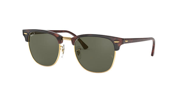 Ray-Ban Clubmaster Classic RB3016 Tortoise - Acetate - Green Polarized  Lenses - 0RB3016990 5849  f56d61e025