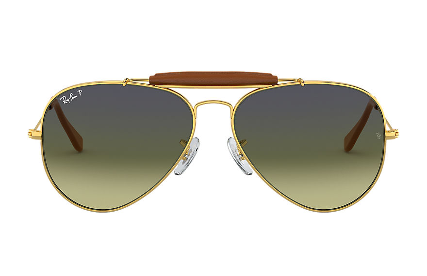 Ray-Ban OUTDOORSMAN CRAFT Gold with Green Classic G-15 lens