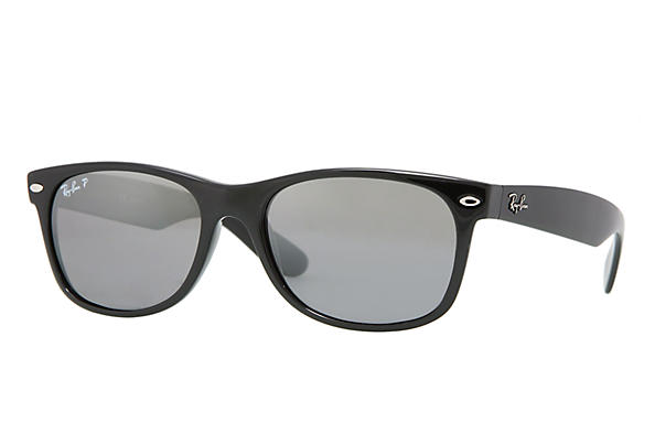 Ray-Ban New Wayfarer Classic RB2132 Black - Nylon - Green Polarized Lenses  - 0RB2132901 5852   Ray-Ban® USA 0a01e41de4