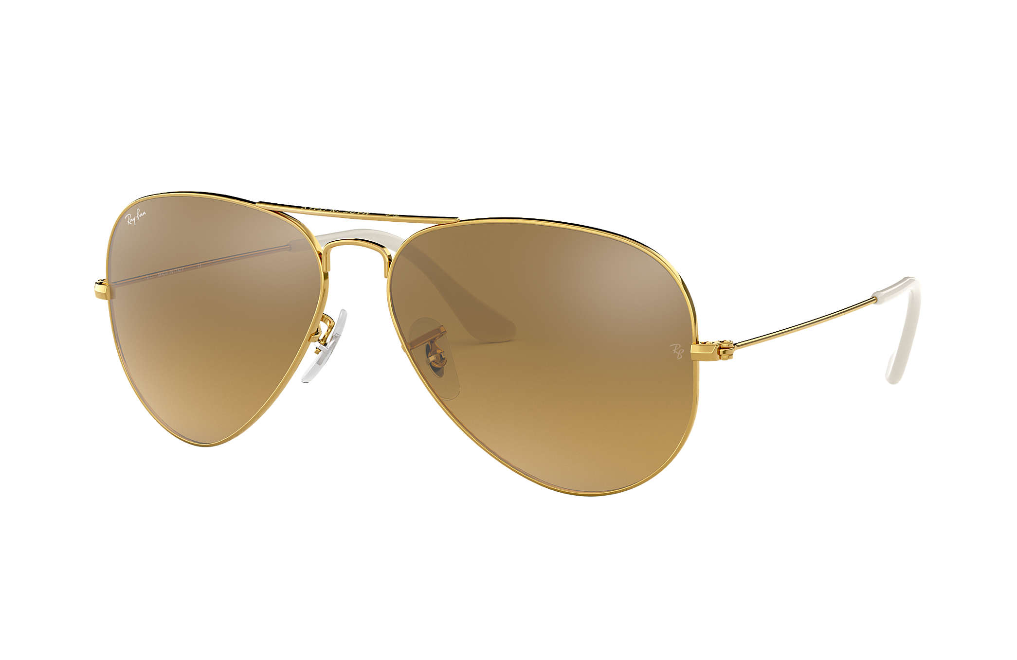 b6c000c41f0 Ray-Ban Aviator Gradient RB3025 Gold - Metal - Brown Silver Lenses ...