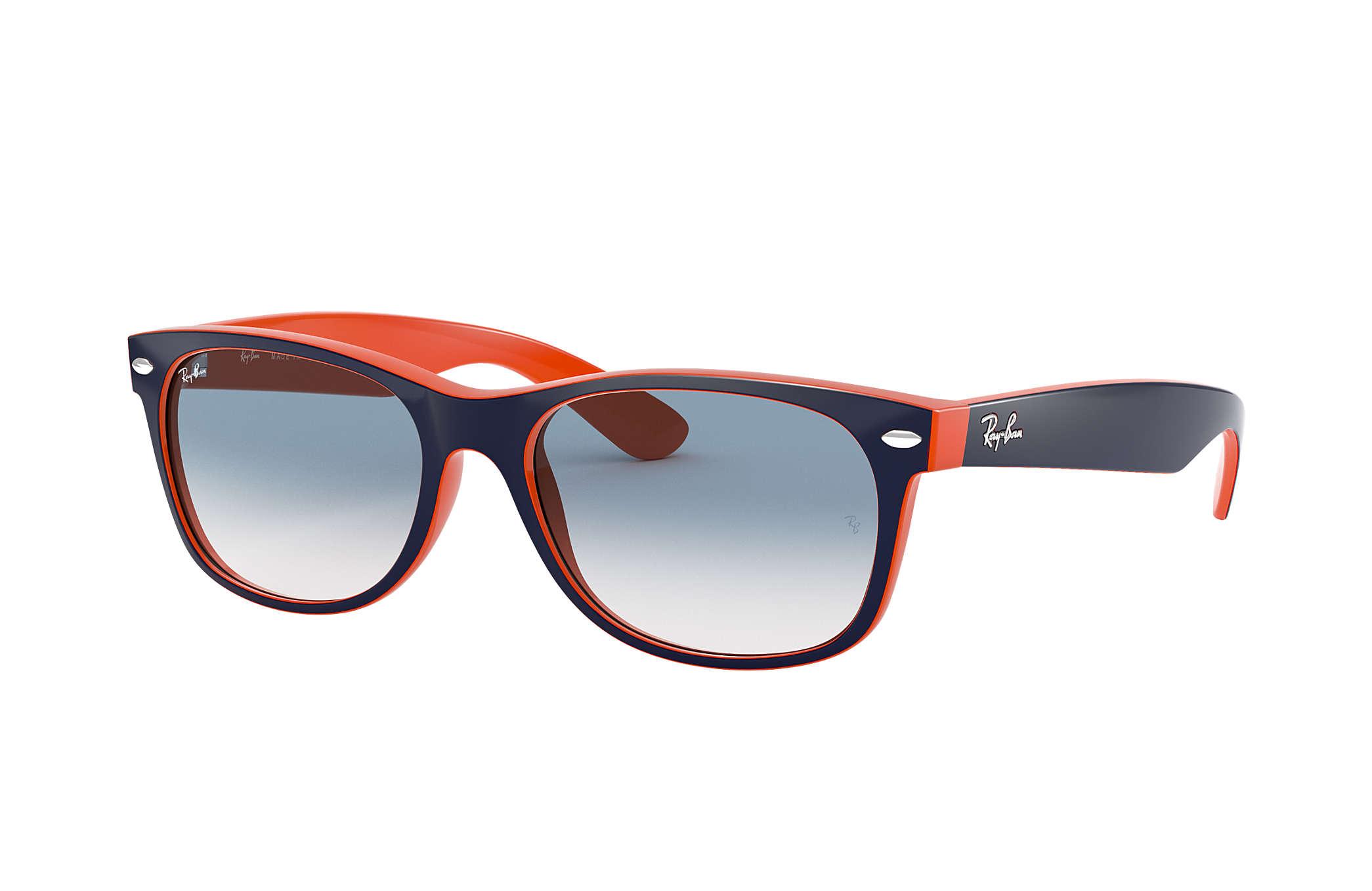 ray ban new wayfarer bleu et orange