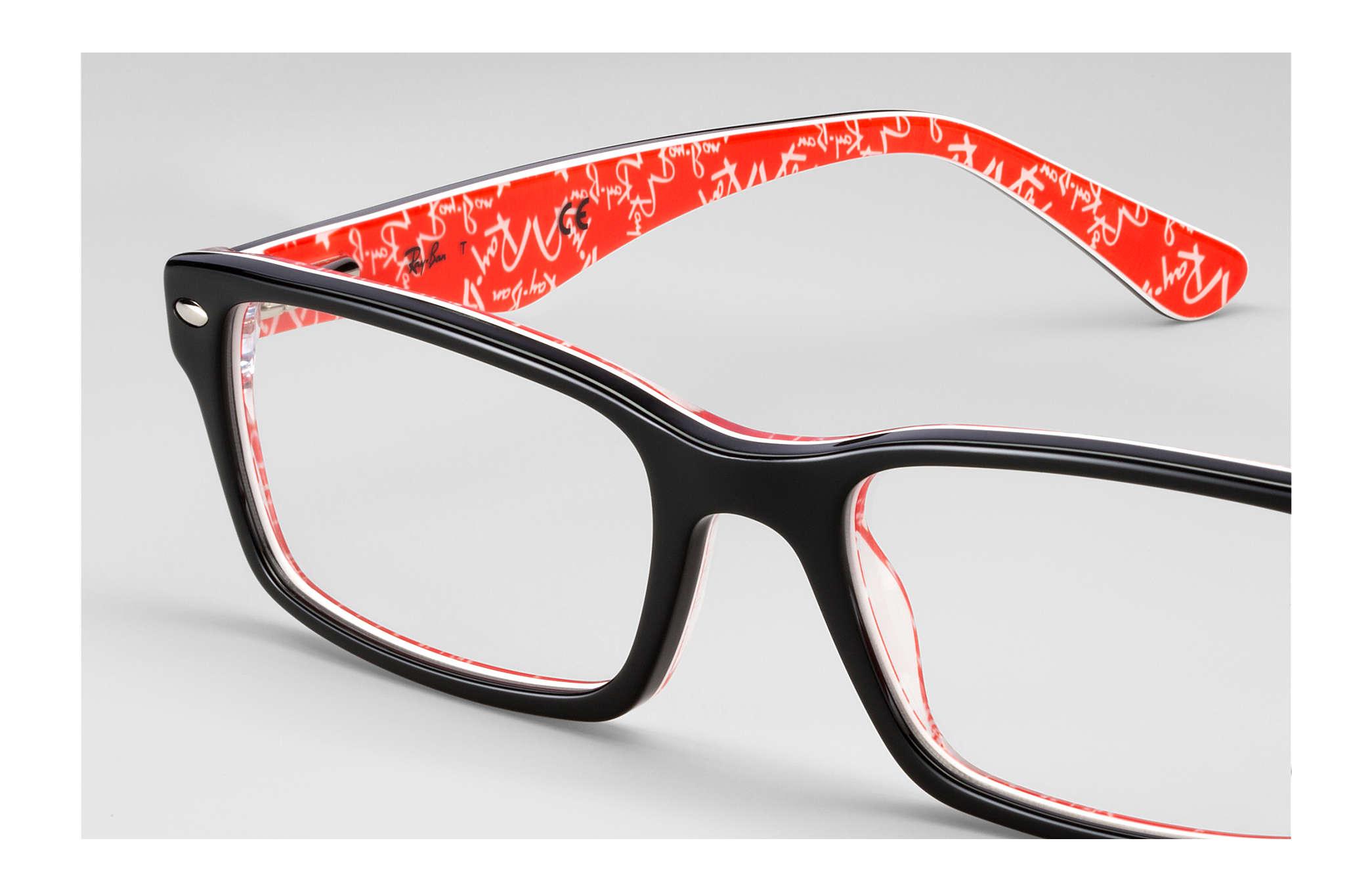 d1bb9147180e Ray-Ban prescription glasses RB5206 Black - Acetate - 0RX5206247954 ...