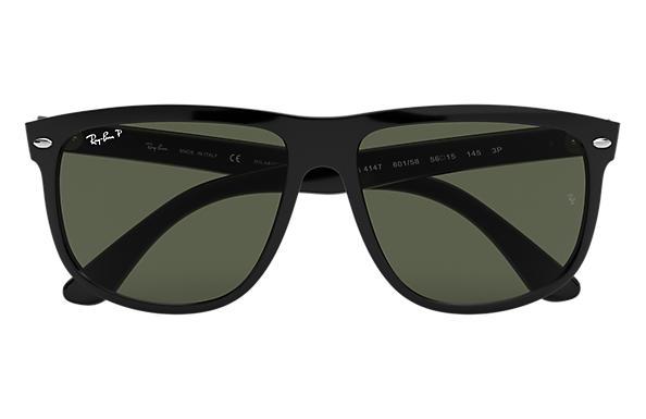Ray Ban Occhiali Da Sole Quadrati In Cristallo Nero Verde Polarizzata Rb4147 60158 60