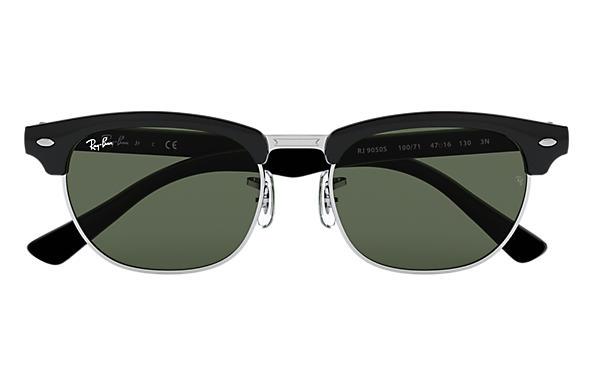 c33310ed831c8 Ray-Ban Clubmaster Junior RB9050S Black - Nylon - Green Lenses ...