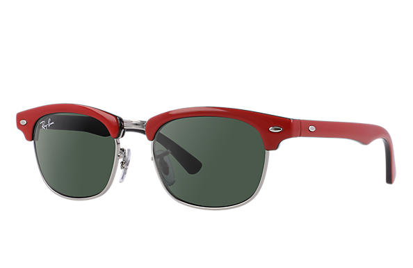 Ray-Ban 0RJ9050S-CLUBMASTER JUNIOR Red,Black SUN