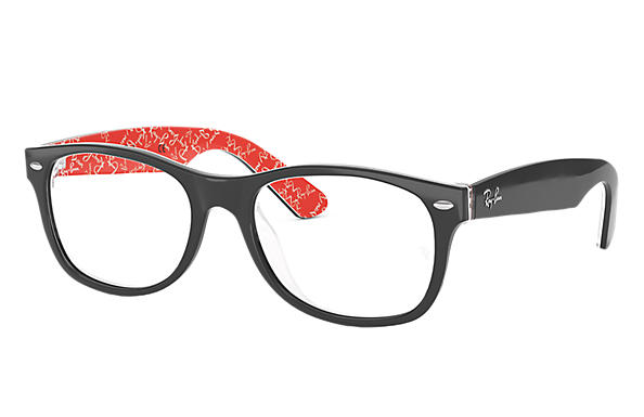 Ray-Ban 0RX5184-New Wayfarer Optics Schwarz,Multicolor OPTICAL