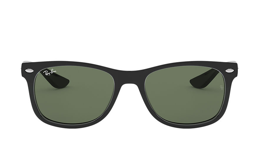 Ray-Ban NEW WAYFARER JUNIOR Black with Green Classic lens
