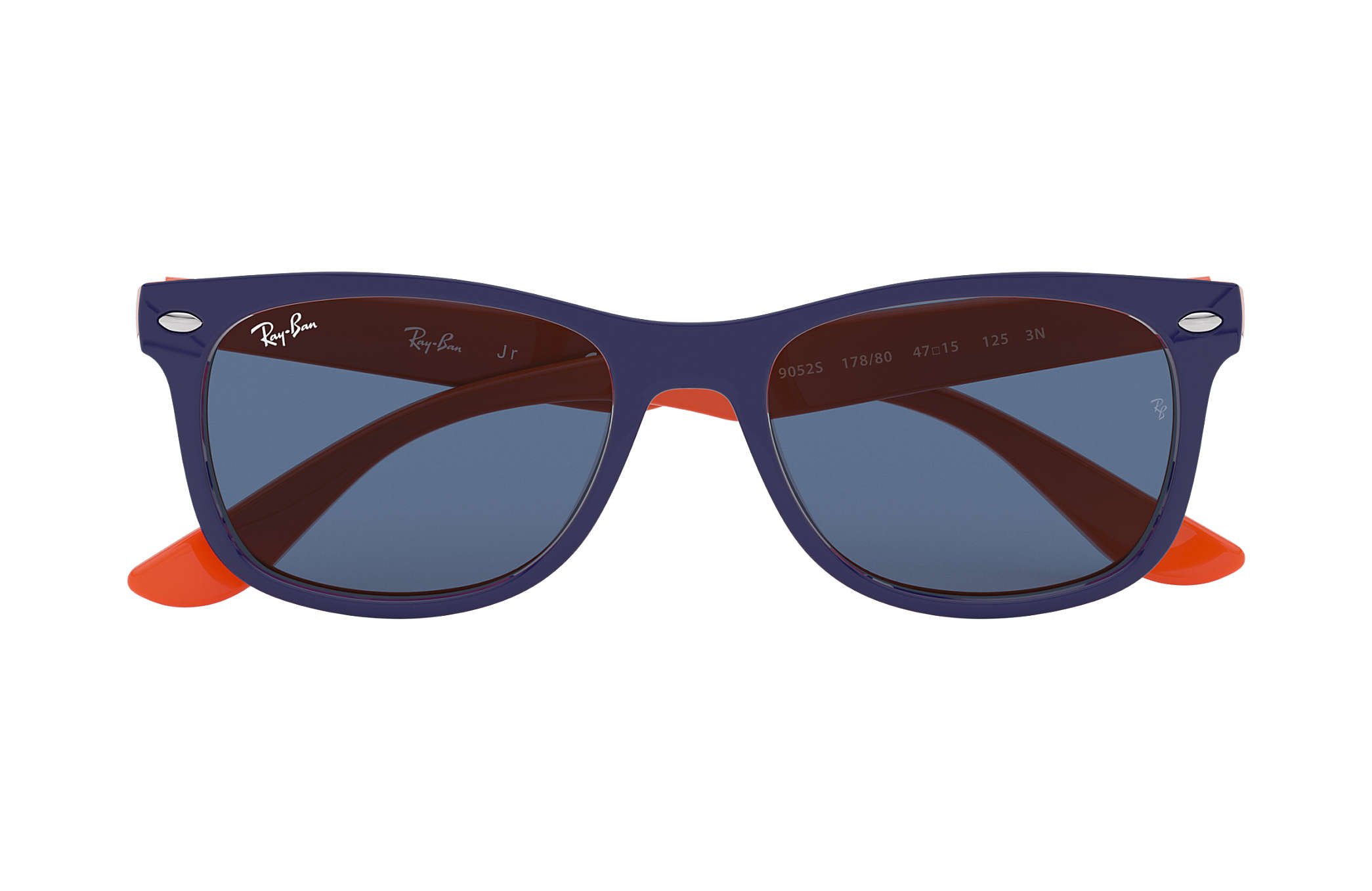 ray ban wayfarer oranje blauw
