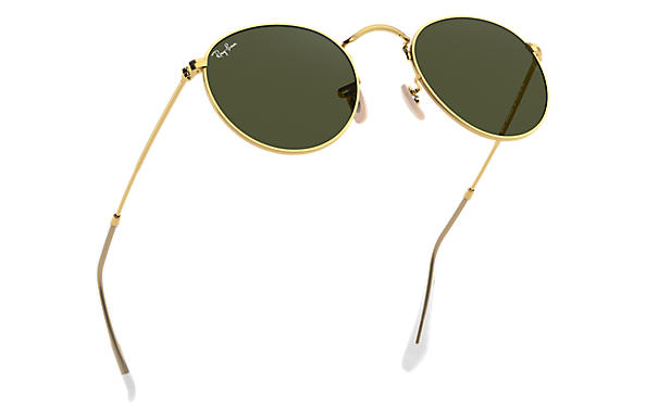 ray ban round metal gold grün