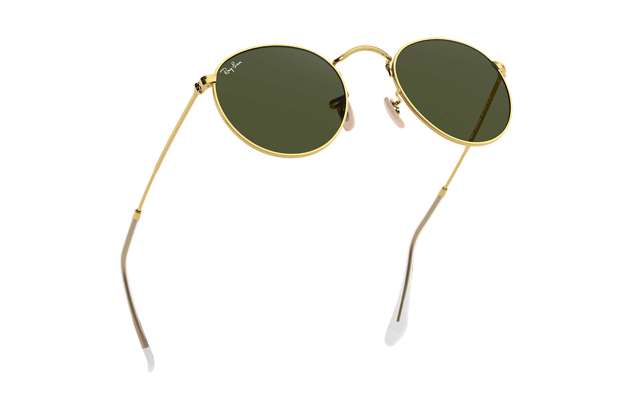 764cef259d Ray-Ban Round Metal RB3447 Gold - Metal - Green Lenses ...