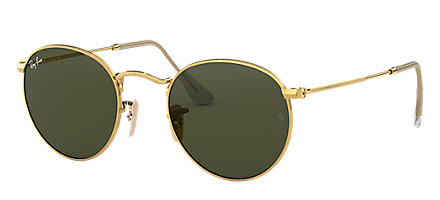 27d0ed25d88f Ray-Ban Round Metal Classic Gold with Green Classic G-15 lens. Ray-Ban  sunglasses RB3447 UNISEX ...