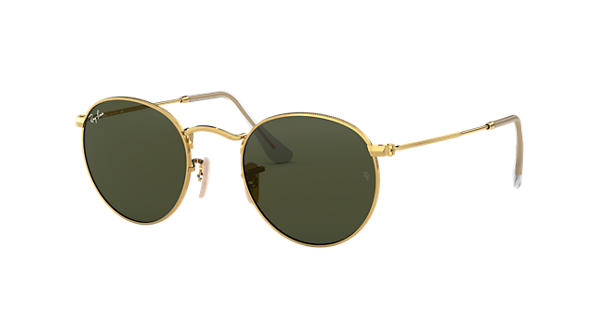 07edc47fbd5 Ray-Ban Round Metal RB3447 Gold - Metal - Green Lenses - 0RB344700150