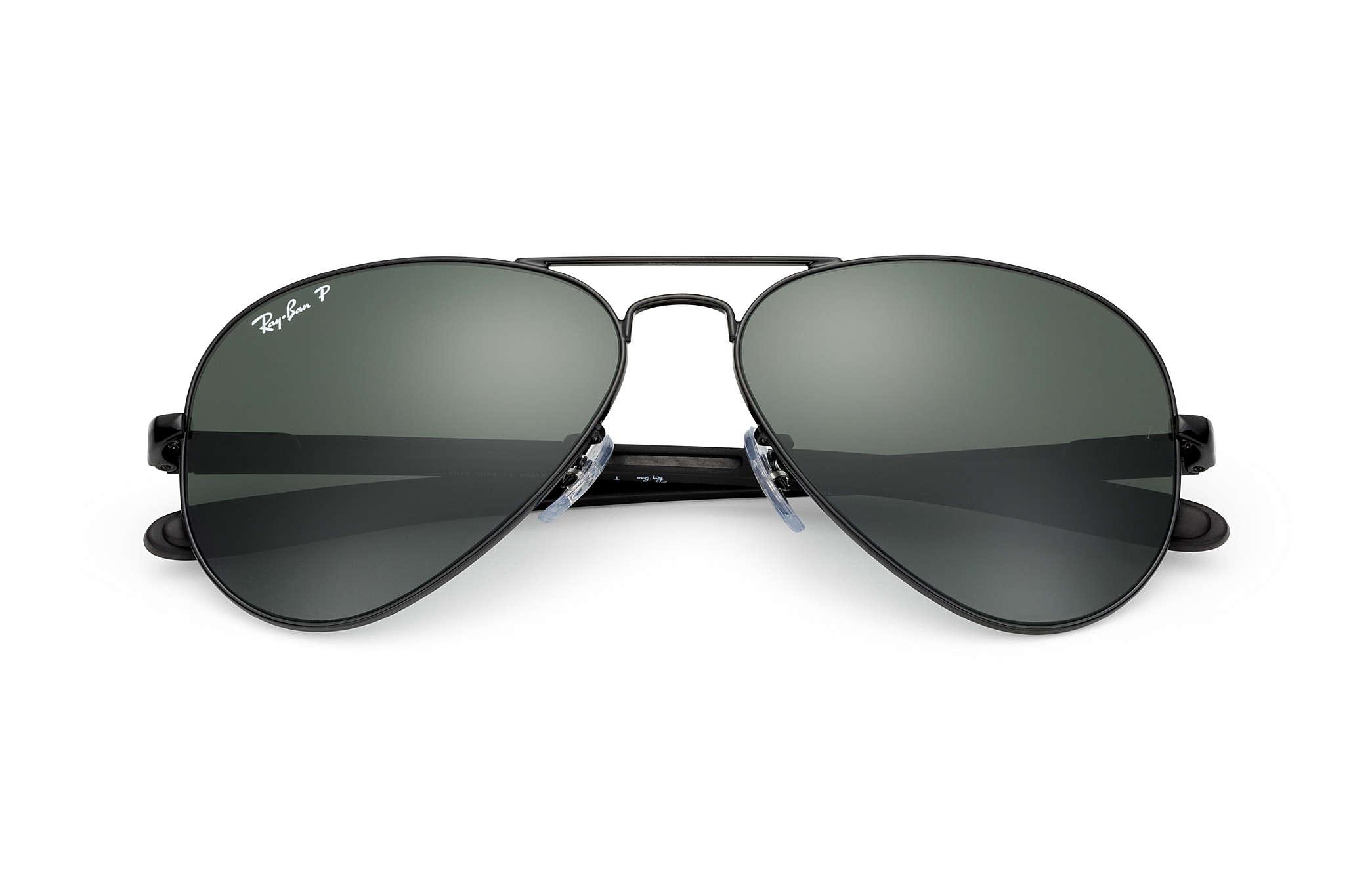 1eaf13e641 Ray-Ban Aviator Carbon Fibre RB8307 Black - Carbon Fibre - Green ...