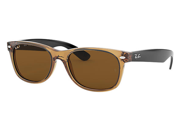 Ray-Ban Sunglasses NEW WAYFARER BICOLOR Honey with Brown Classic B-15 lens