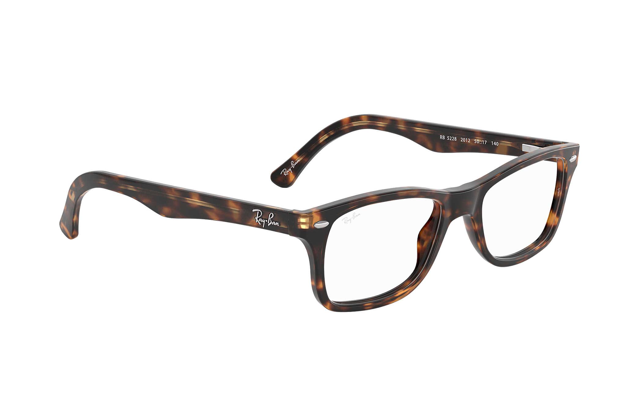 8da6763eeaedc Óculos de grau Ray-Ban RB5228 Tartaruga - Acetato - 0RX5228201253 ...