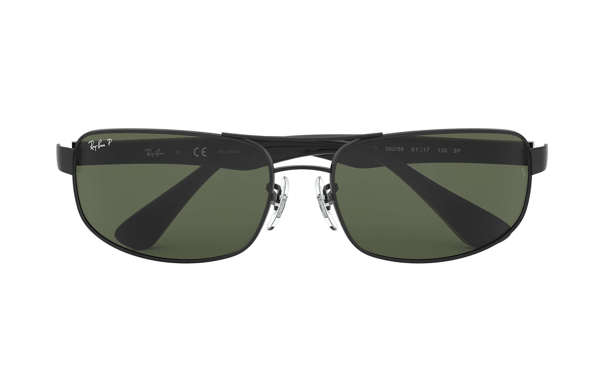3c38baaa434 Ray-Ban RB3445 Black - Metal - Green Polarized Lenses - 0RB3445002 ...