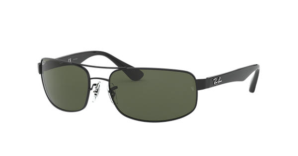 31f2723884 Ray-Ban RB3445 Black - Metal - Green Polarized Lenses - 0RB3445002 5861