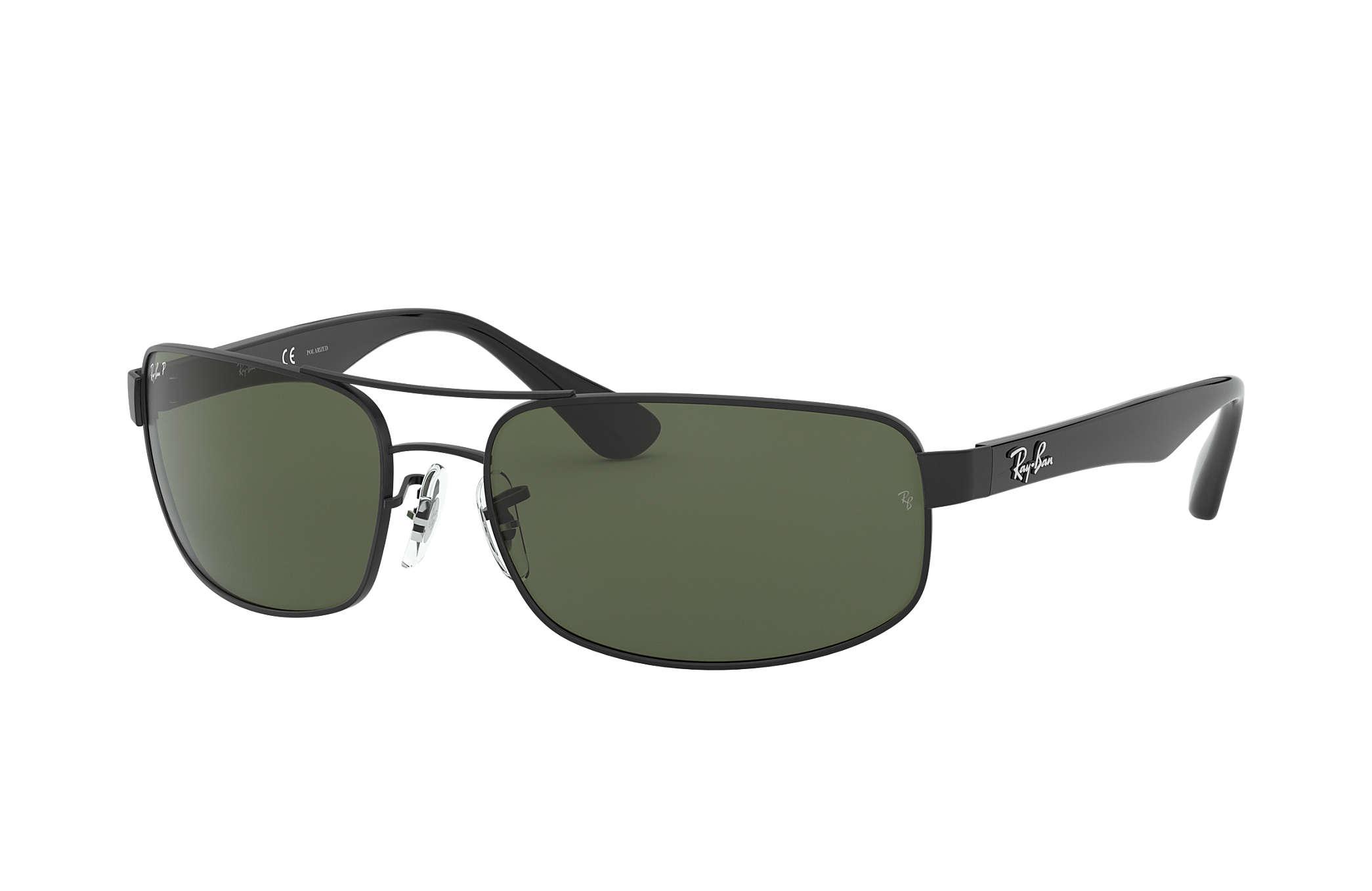 Ray-Ban RB3445 Black - Metal - Green Polarized Lenses - 0RB3445002 ... 97476220d8