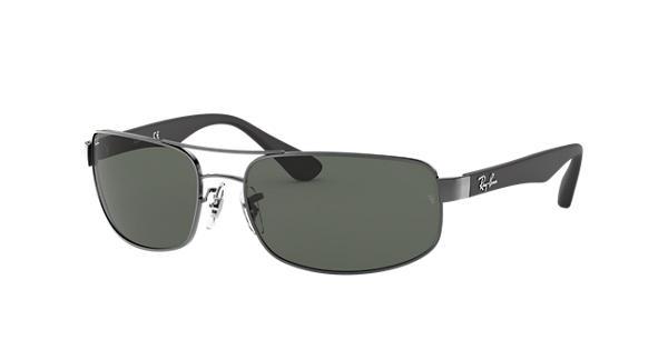 dd6163e66b Ray-Ban RB3445 Gunmetal - Metal - Green Lenses - 0RB344500461
