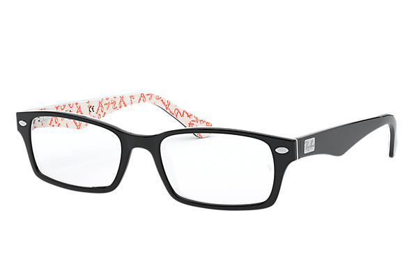 Ray-Ban 0RX5206-RB5206 Black,White OPTICAL