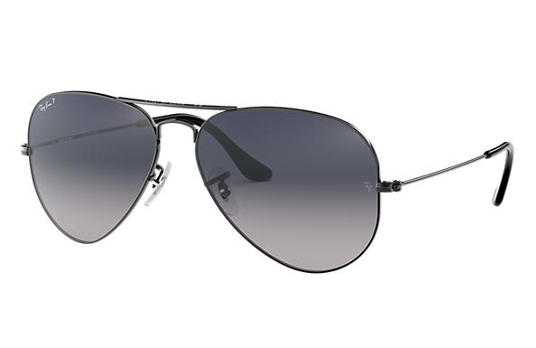 ba81ab8e4176b Ray-Ban Aviator Gradient RB3025 Gunmetal - Metal - Blue Grey ...