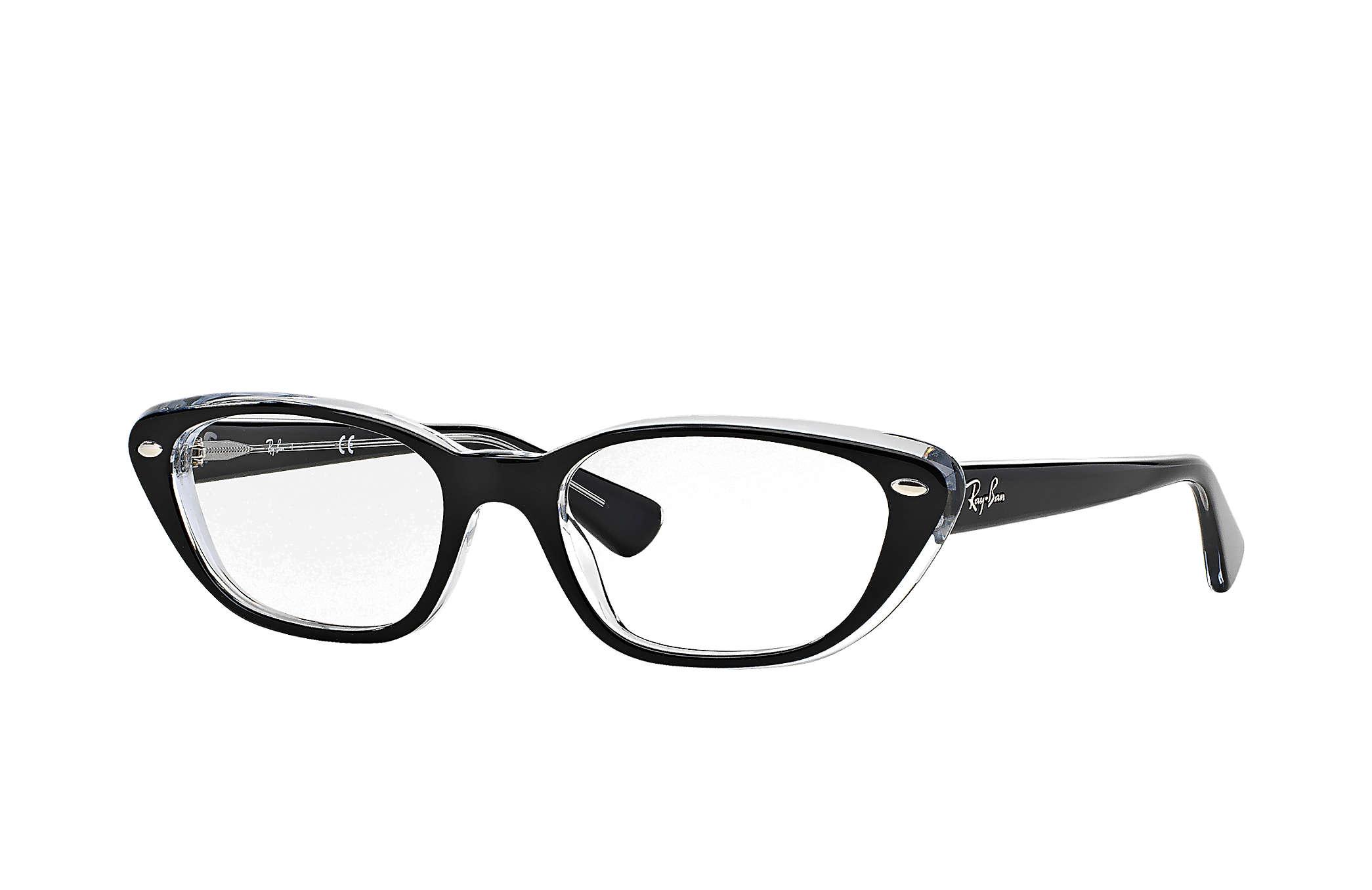 cb85dd7ac36fc Ray-Ban prescription glasses RB5242 Black - Acetate - 0RX5242203453 ...