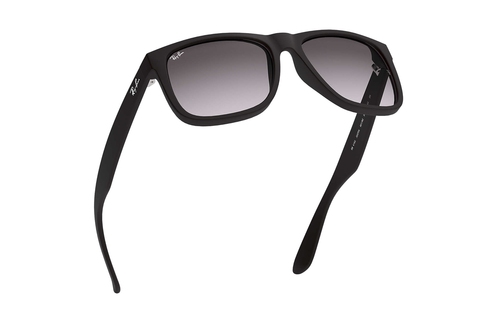 Ray-Ban Justin Classic RB4165 Black - Nylon - Grey Lenses ... 52fd025c4a