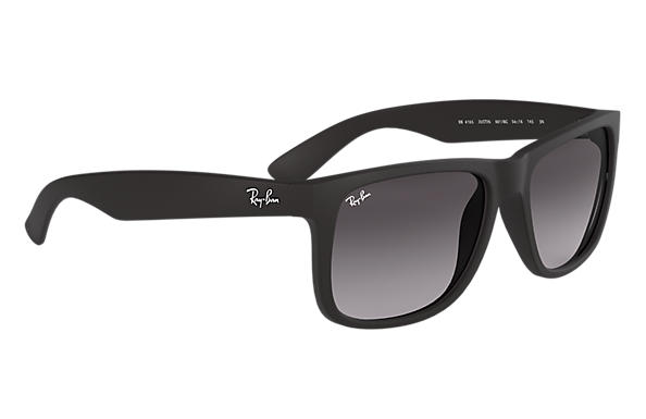 Ray-Ban Justin Classic RB4165 Black - Nylon - Grey Lenses ... 8d35cd740e