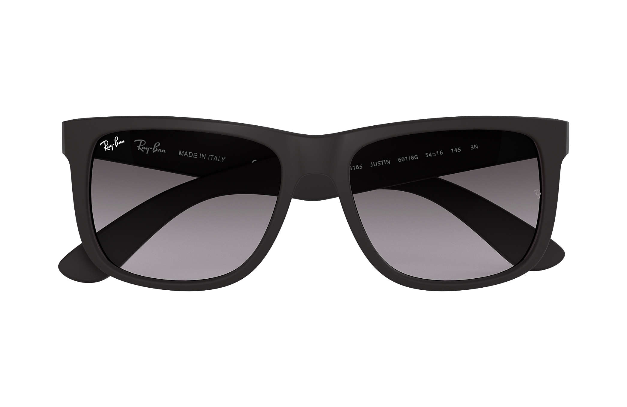0f496767ab6 Ray-Ban Justin Classic RB4165 Black - Nylon - Grey Lenses ...
