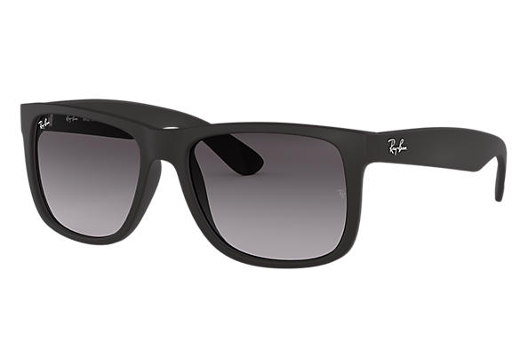 Ray-Ban Sunglasses JUSTIN CLASSIC Matte Black with Grey Gradient lens