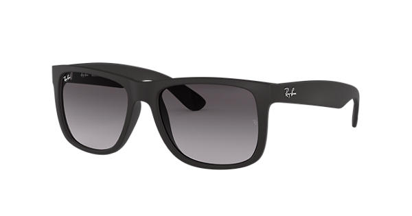 ca09eee90ad Ray-Ban Justin Classic RB4165 Black - Nylon - Grey Lenses - 0RB4165601 8G55