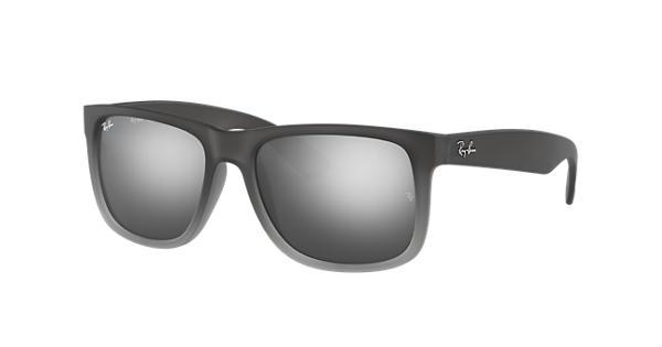 f8db10cfb0 Ray-Ban Justin Classic RB4165 Grey - Nylon - Silver Lenses -  0RB4165852 8855