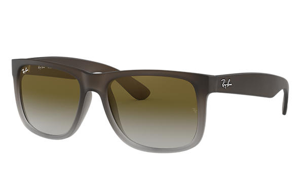 2dfbf88b84 Ray-Ban Justin Classic RB4165 Brown - Nylon - Green Lenses ...