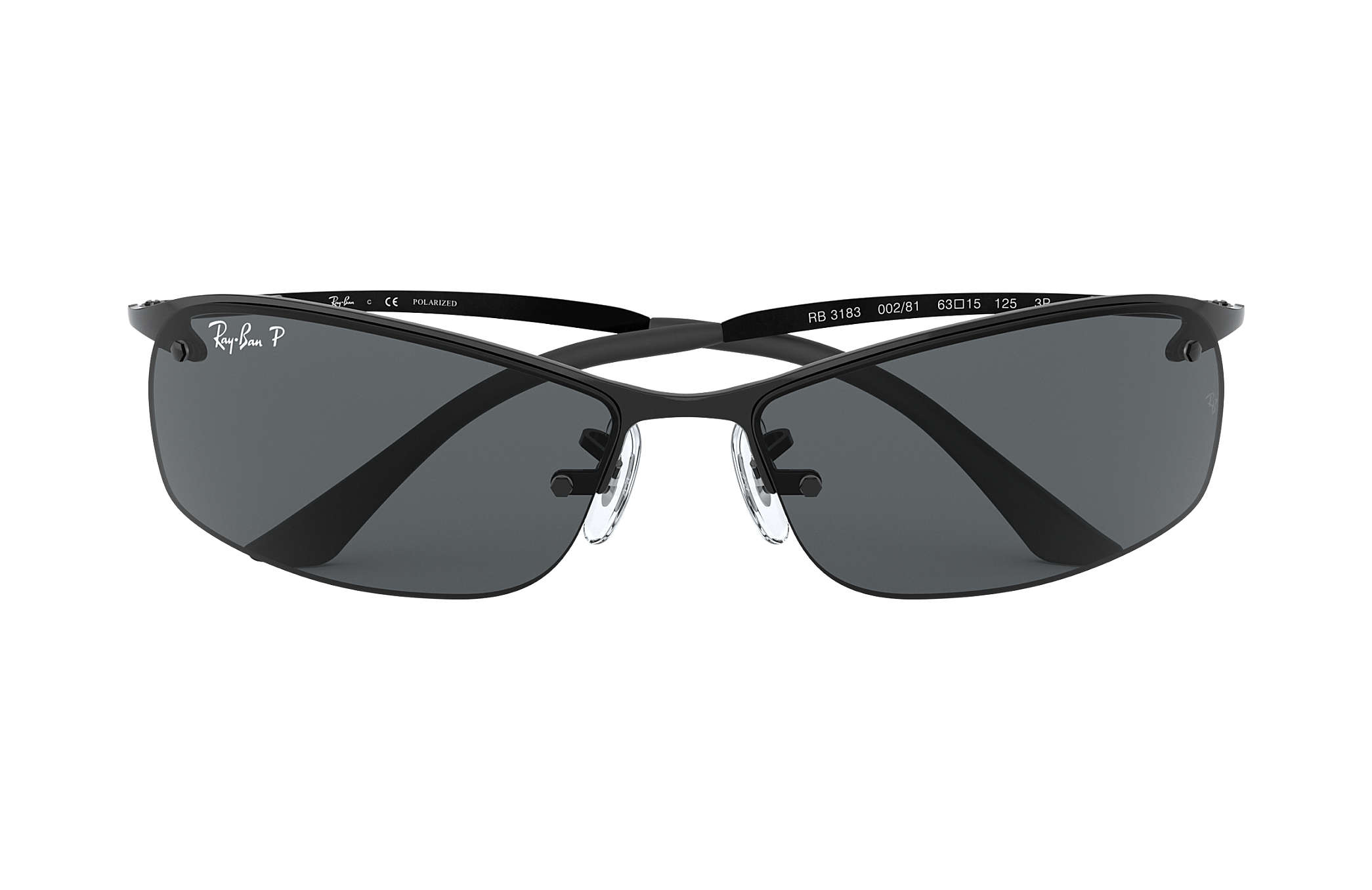 8985140249ee1c Ray-Ban RB3183 Black - Metal - Grey Polarized Lenses - 0RB3183002 ...