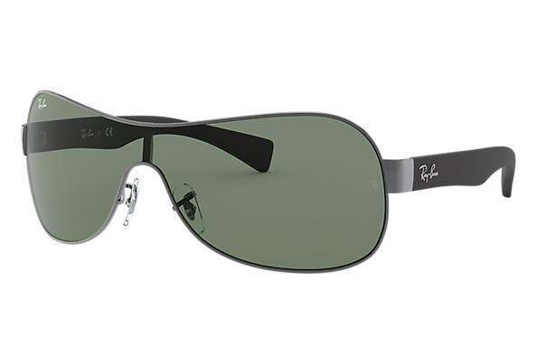 6a79327042 Ray-Ban RB3471 Gunmetal - Metal - Green Lenses - 0RB3471004 7132 ...