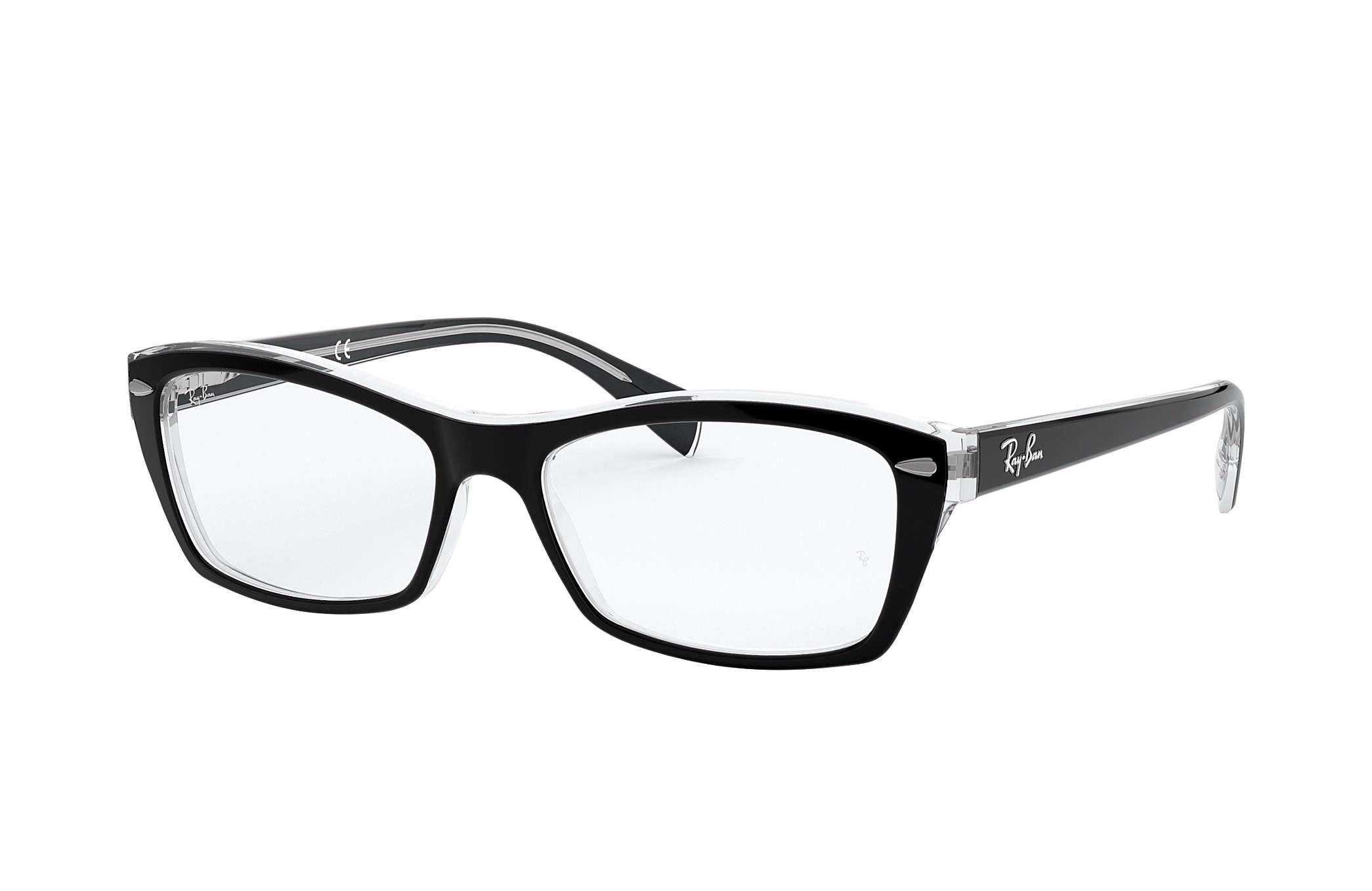 7a3e11b9e977f Óculos de grau Ray-Ban RB5255 Preto - Acetato - 0RX5255203453