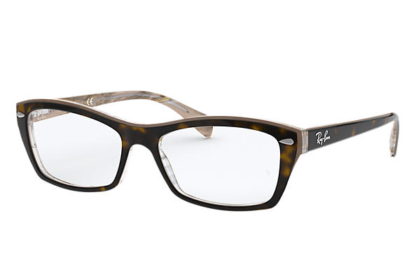 Ray-Ban 0RX5255-RB5255 Tortoise,Transparent OPTICAL