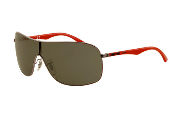 Ray-Ban RJ9530S Gunmetal with Green Classic lens