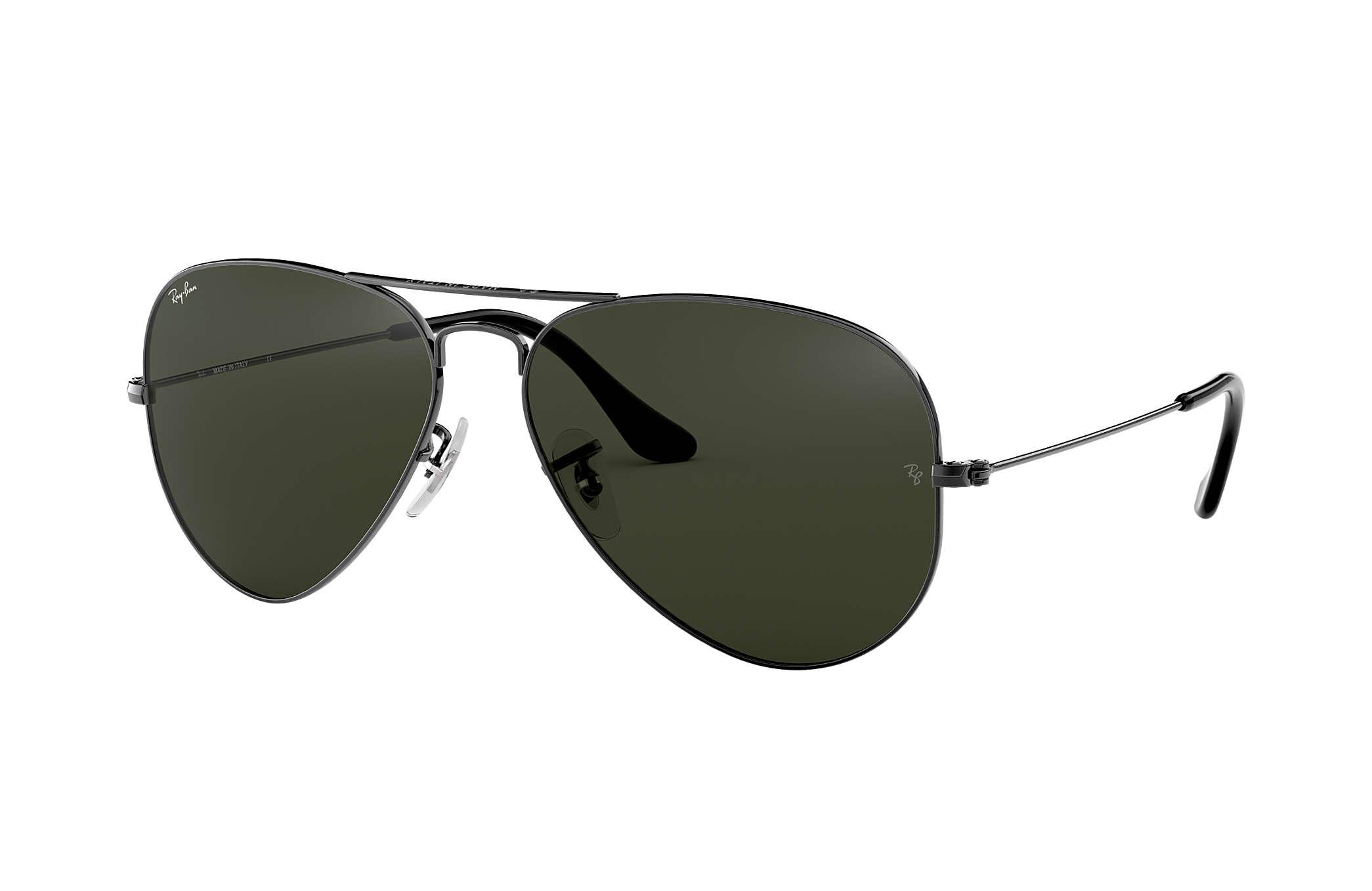 765945bb27ea69 Ray-Ban Aviator Classic RB3025 Gunmetal - Metal - Green Lenses ...