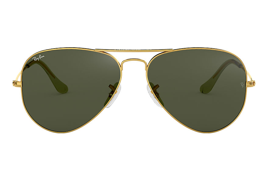 Ray-Ban Sunglasses AVIATOR CLASSIC Gold with Green Classic G-15 lens