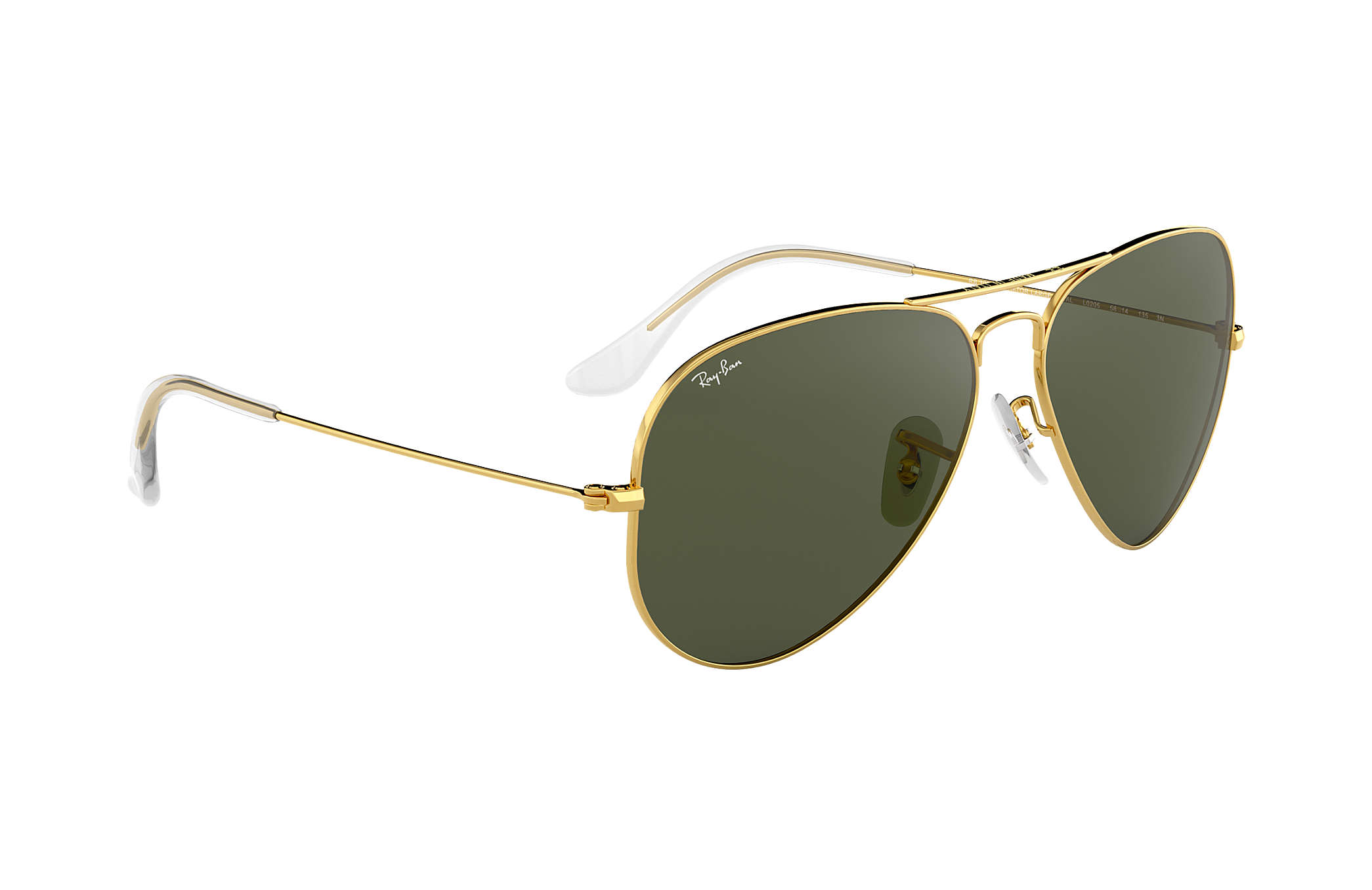 d7ed6a7ea0 Ray-Ban Aviator Classic RB3025 Gold - Metal - Green Lenses ...
